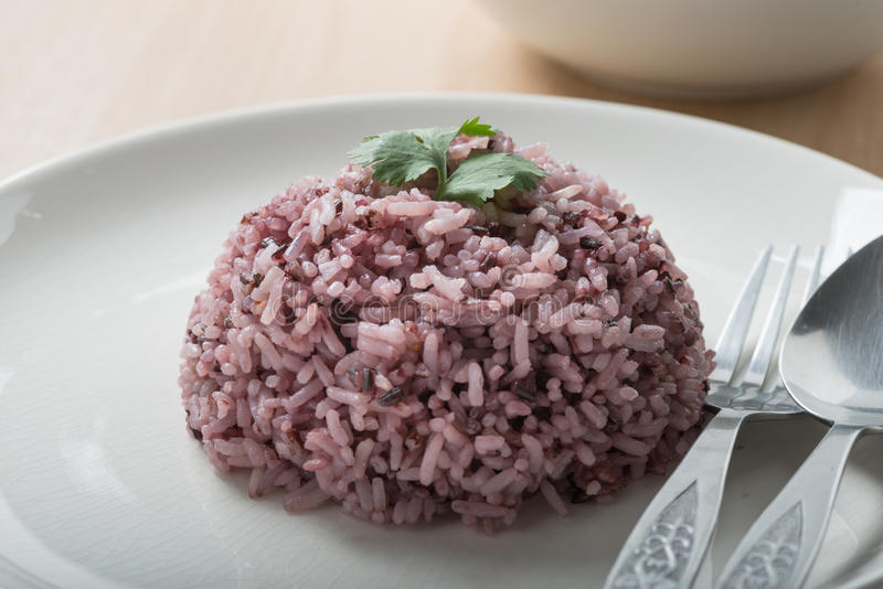 Rice mix purple rice berry rice. Rice mix purple rice berry rice is a popular health food stock image