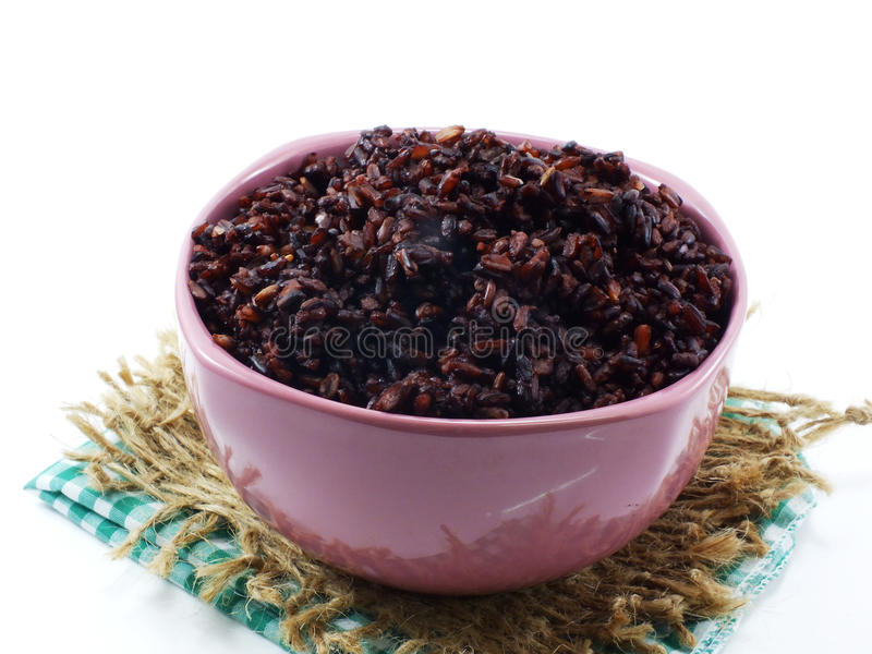 Rice mix purple rice berry rice royalty free stock photo