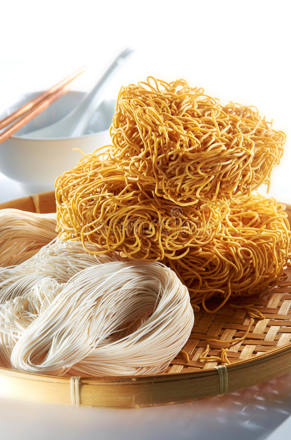Rice Noodle. Raw rice noodle with unique setup royalty free stock photos