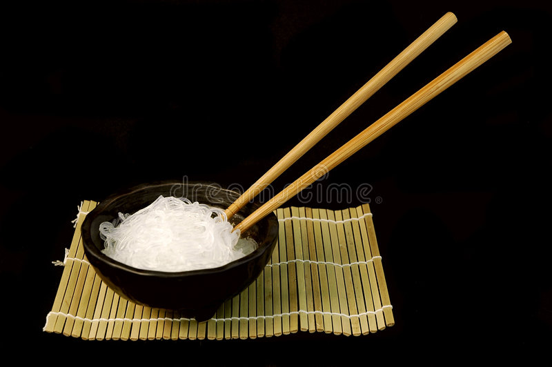 Rice Noodle Bowl royalty free stock photos