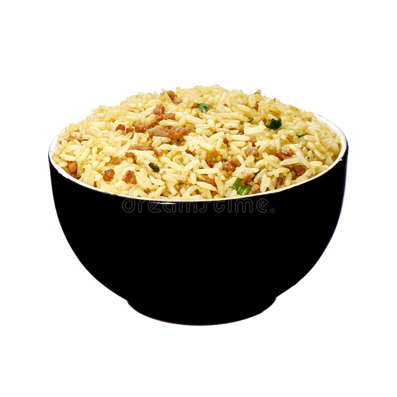 Rice with pork and curry stock photography