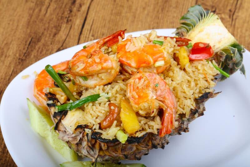 Rice with prawn royalty free stock photos