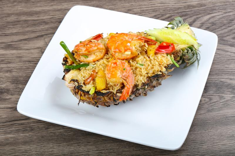 Rice with prawn royalty free stock photography