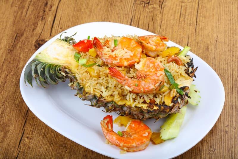 Rice with prawn stock photo