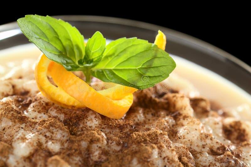 Rice Pudding royalty free stock photo