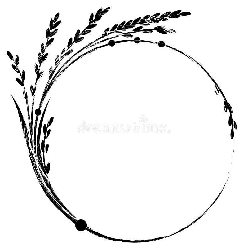 Rice rama ilustracja wektor