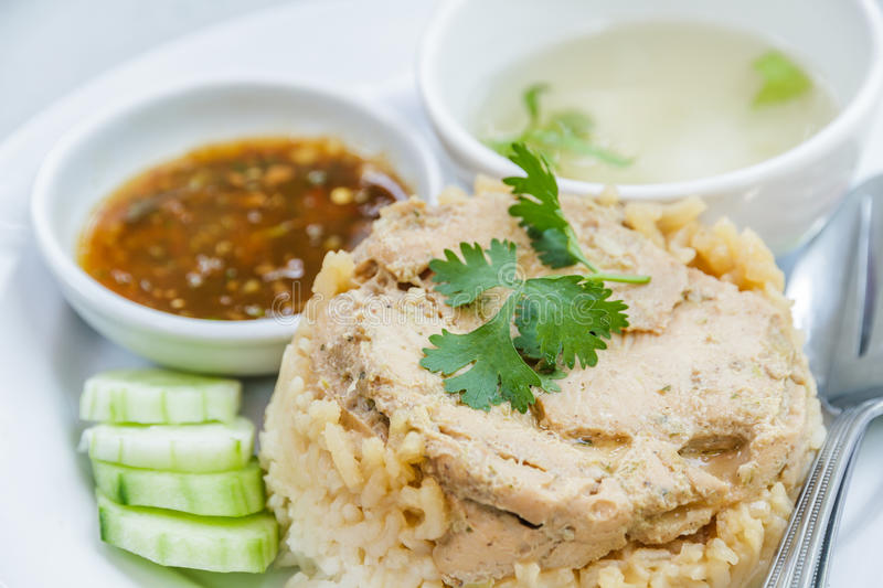 Rice roast chicken royalty free stock images