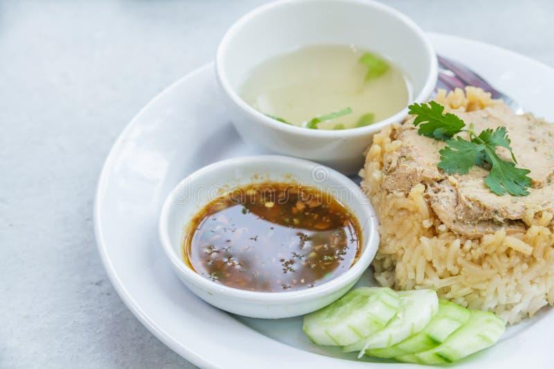 Rice roast chicken stock photography