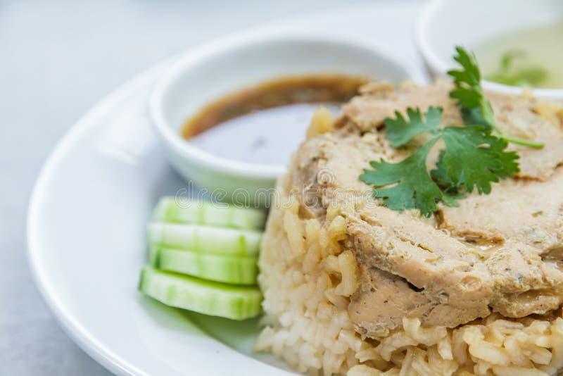 Rice roast chicken royalty free stock image