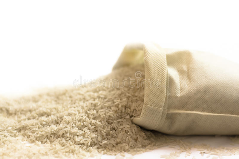 Download Rice Sack Spilling Stock Photo - Image: 39275986