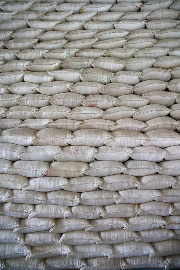 Download Rice Sacks stock photo. Image of neat, brown, grain, wrapping - 17121760