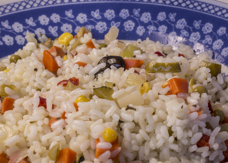 The rice salad royalty free stock image