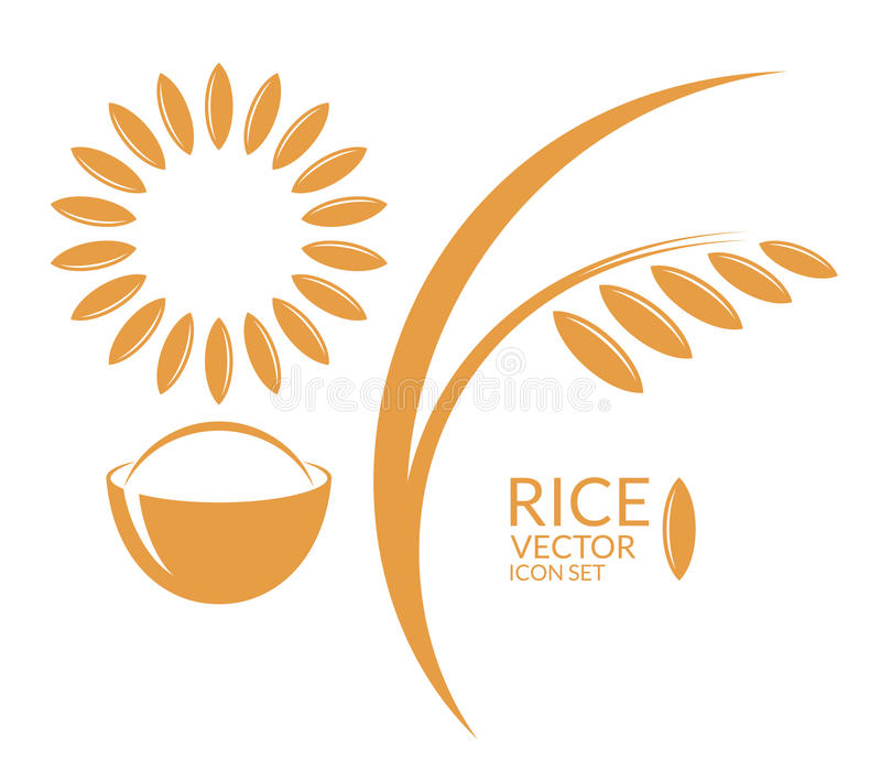 Rice Set royalty ilustracja