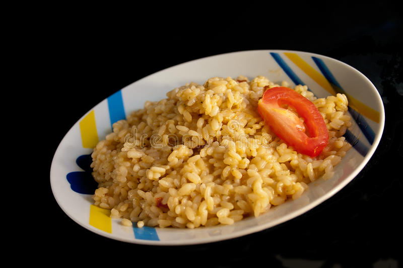 Rice with shrimps royalty free stock photos