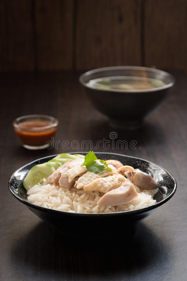 Free Rice Steamed With Chicken Soup Royalty Free Stock Photos - 57676948