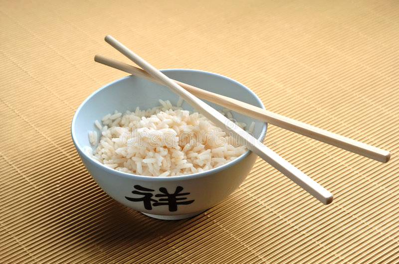 Rice and sticks royalty free stock image