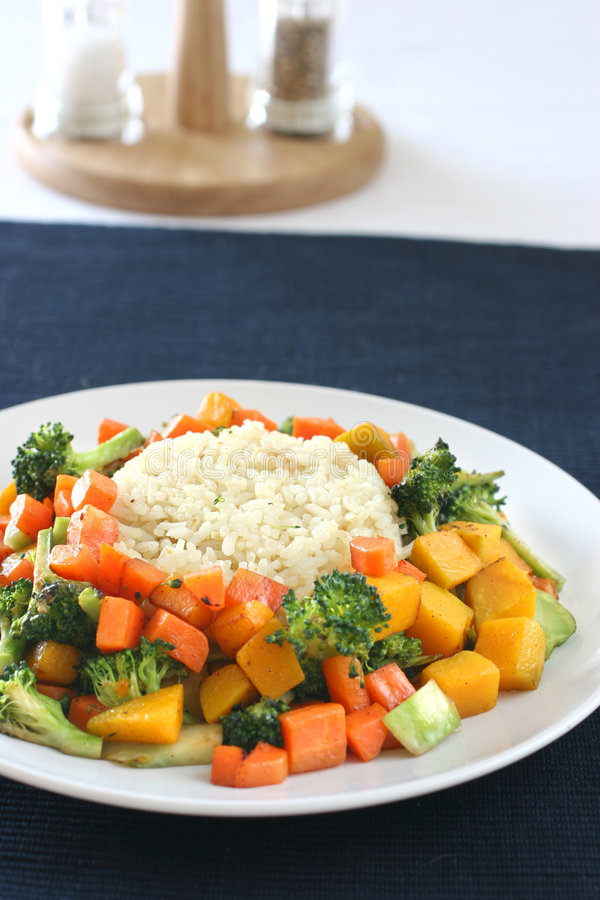 Download Rice & veg stock image. Image of plate, eating, healthy - 4090813
