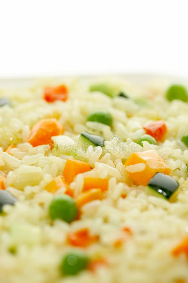 Rice & Vegetables stock image