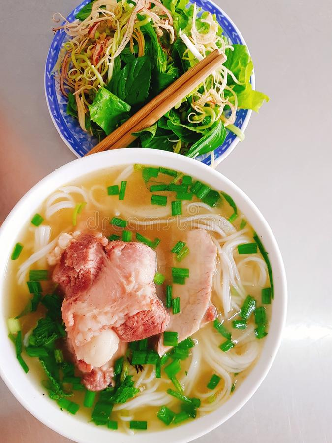 Rice vermicelli with pork royalty free stock images