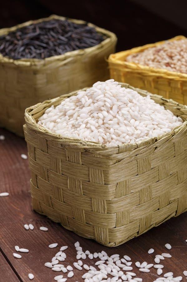 Rice w koszach obrazy stock