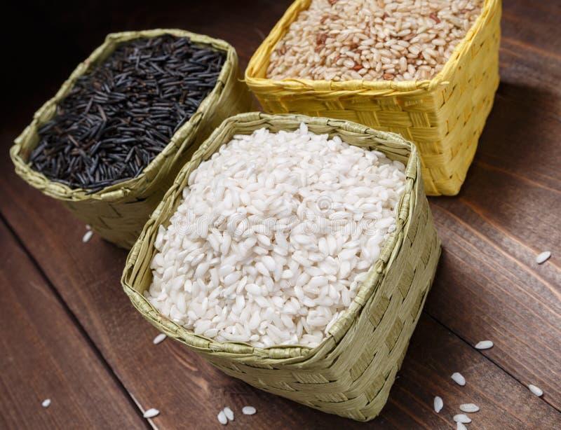 Rice w koszach zdjęcie stock