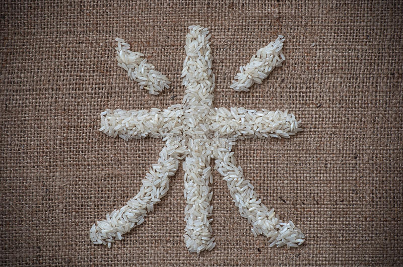 Rice written in Japanese stock images