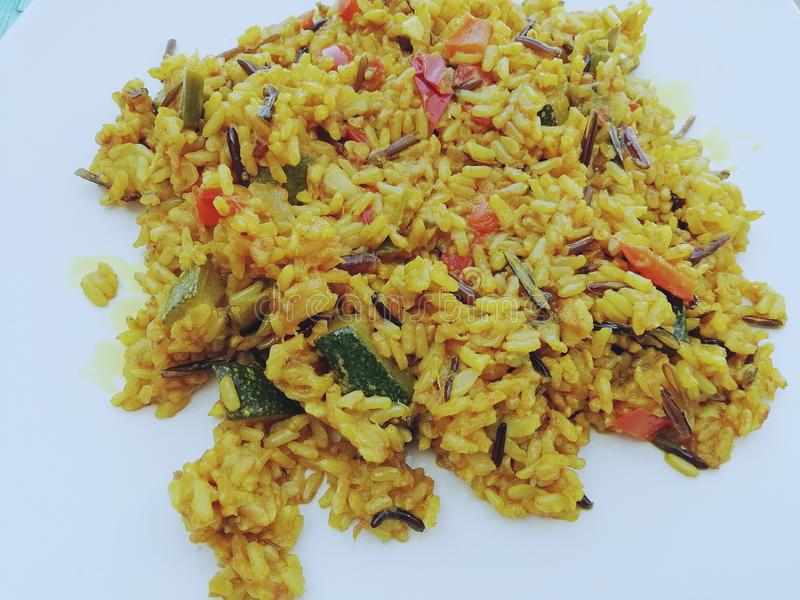 Rice z currym obraz royalty free