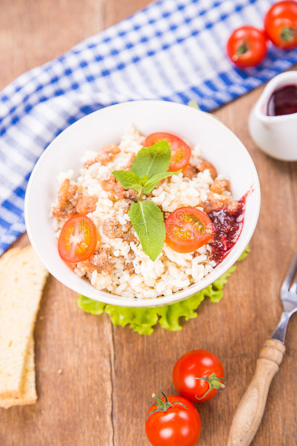 Rice z garnelami obrazy royalty free