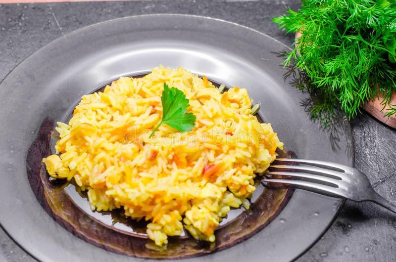 Rice z mięsem, plov fotografia stock