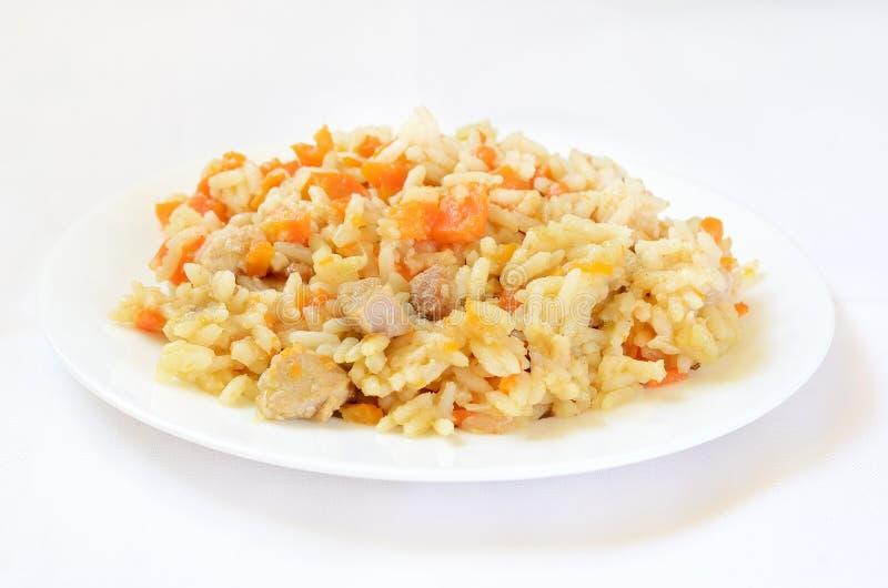 Rice z warzywami i mięsem zdjęcia stock