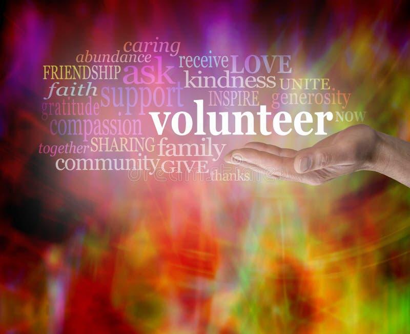 Ricerca dei volontari immagine stock libera da diritti