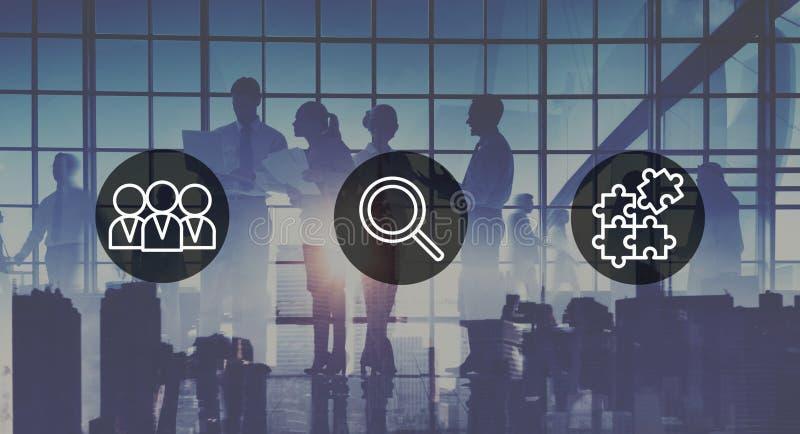 Ricerca del concetto corporativo di lavoro di squadra di assunzione delle risorse umane immagine stock libera da diritti