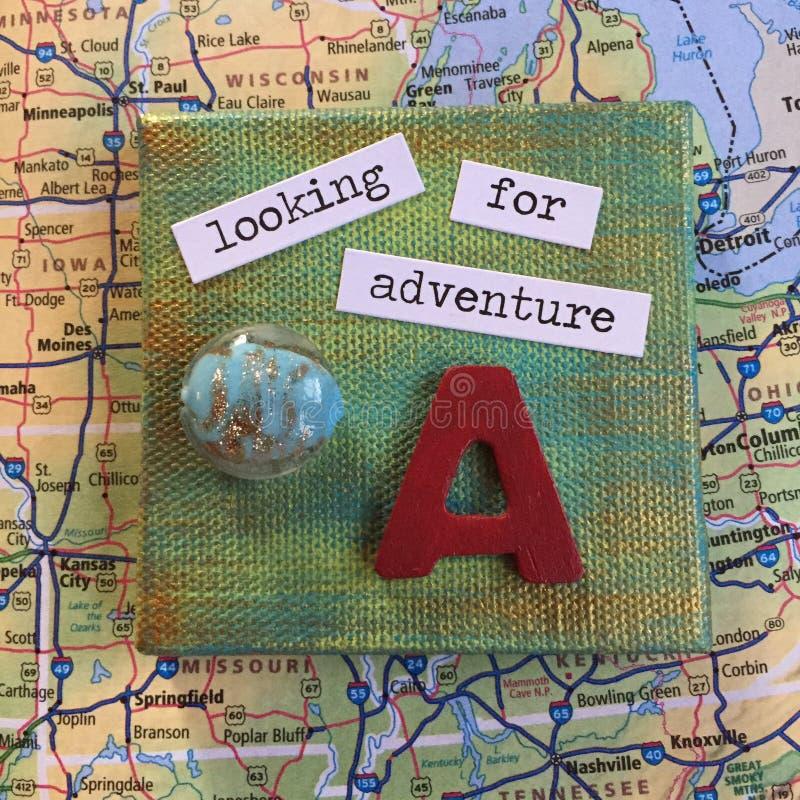 Ricerca dell'avventura Midwest fotografie stock