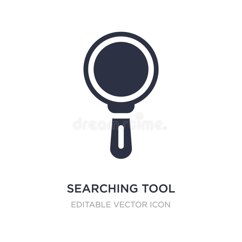 ricerca dell'icona dello strumento su fondo bianco Illustrazione semplice dell'elemento dal concetto degli utensili e degli strum royalty illustrazione gratis