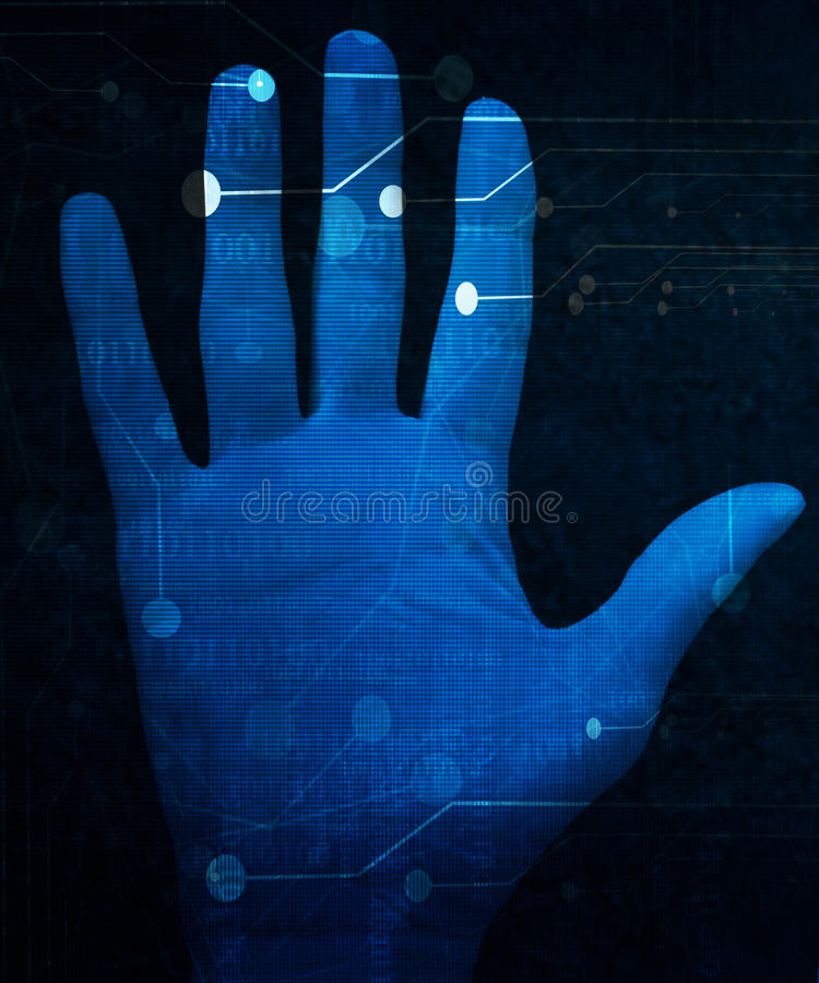 Ricerca della mano illustrazione vettoriale