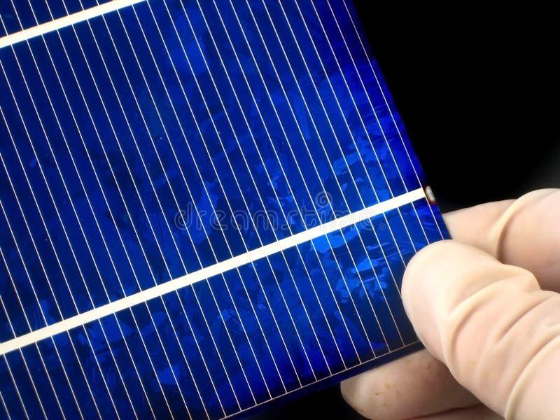 Ricerca della pila solare fotografia stock libera da diritti