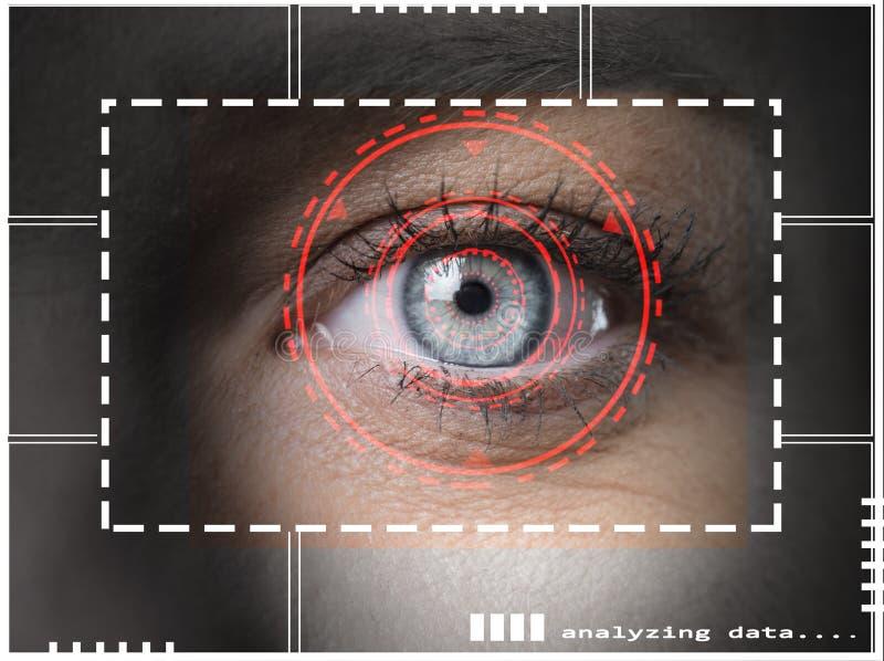 Ricerca della retina illustrazione di stock