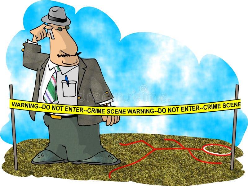 Ricerca di crimine illustrazione di stock