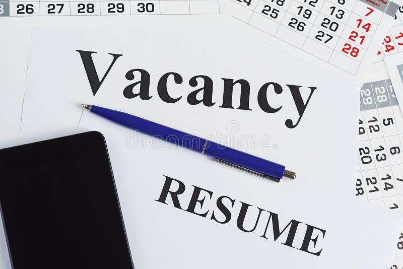 Ricerca di nuovo lavoro Chiamate di ricerca di lavoro e di intervista di lavoro immagini stock