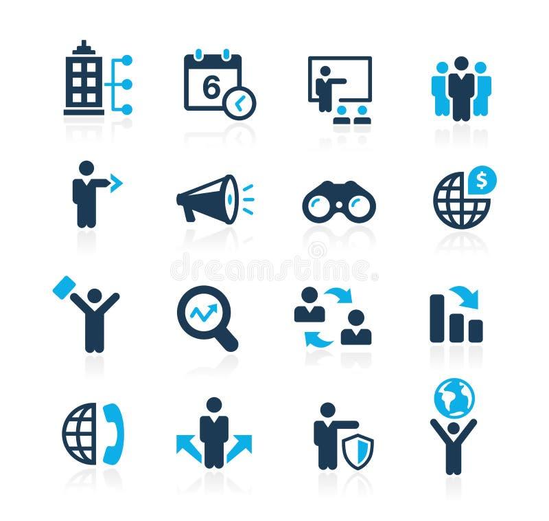 Ricerca le opportunità e delle strategie aziendali //Azure Series illustrazione di stock