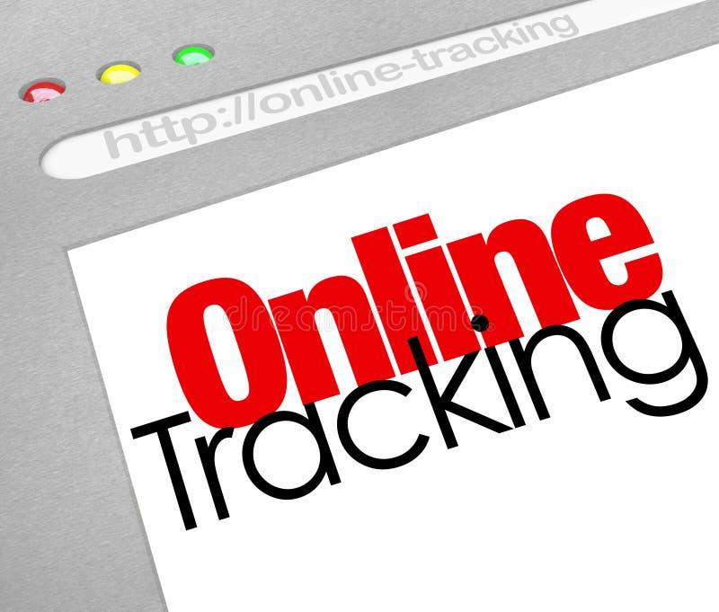 Ricerca online d'inseguimento online di ordine di Internet del sito Web illustrazione vettoriale