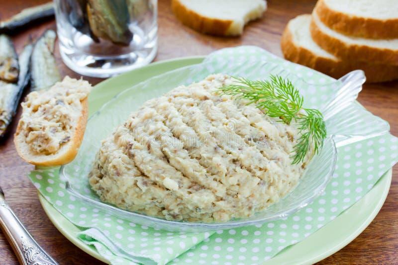 Ricetta del pasticcio di pesce di Forshmak di cucina ebrea tradizionale fotografia stock libera da diritti