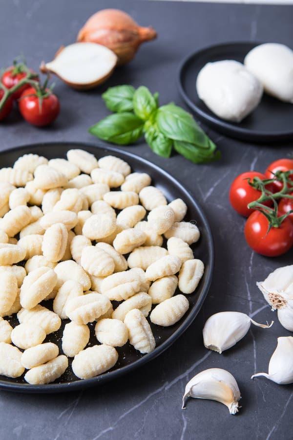 Ricetta italiana degli ingredienti immagine stock