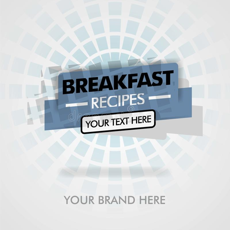 Ricette della prima colazione prezzo in america, migliori ricette asiatiche della prima colazione della prima colazione può esser illustrazione di stock
