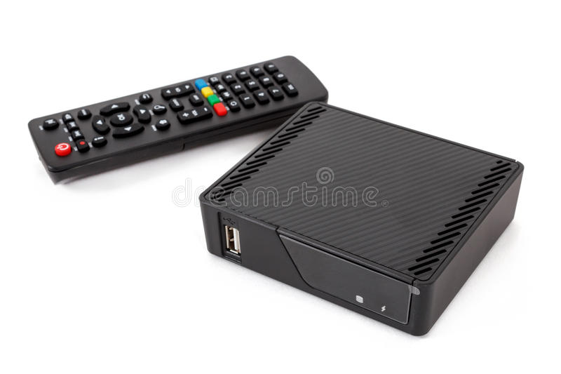Ricevitore della scatola superiore di set televisivo di Android fotografia stock