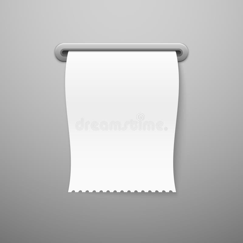 Ricevuta di vendita Ricevute di acquisto realistiche del cambiale in bianco della stampa del modello del controllo della carta in royalty illustrazione gratis