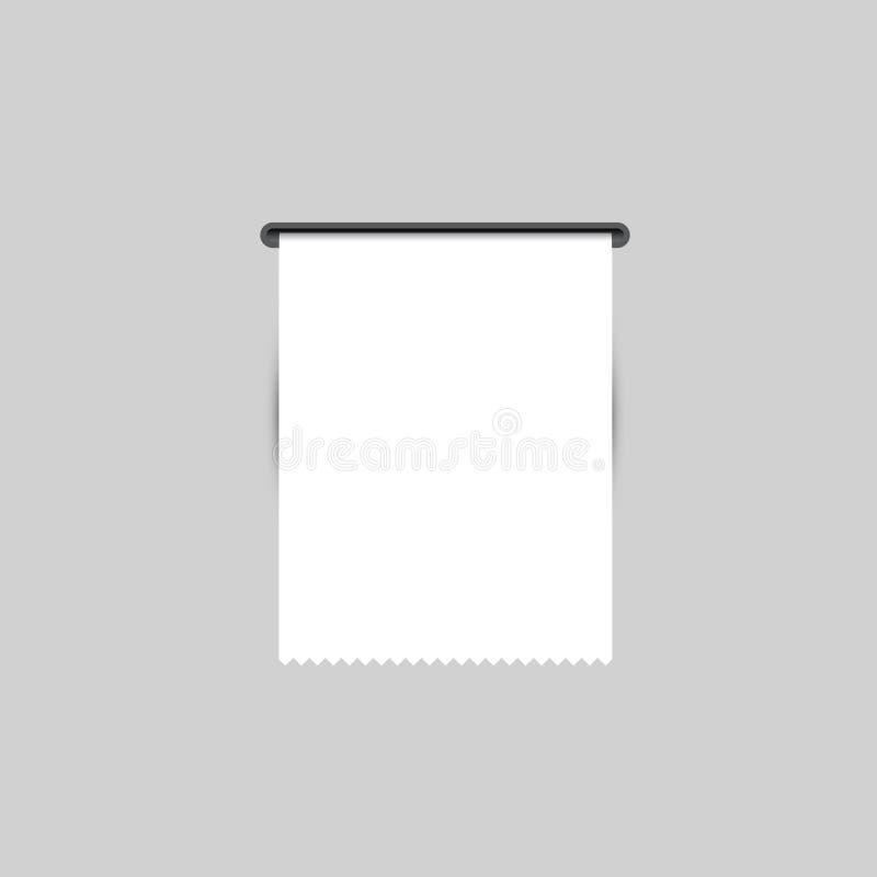Ricevuta di vendite La ricevuta stampata Vettore fotografia stock libera da diritti