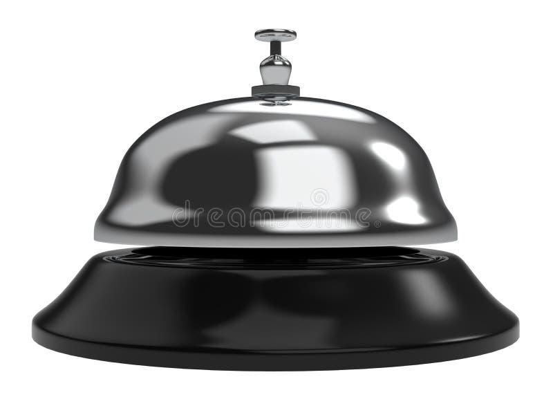Ricezione Bell dell'hotel isolata su fondo bianco illustrazione vettoriale