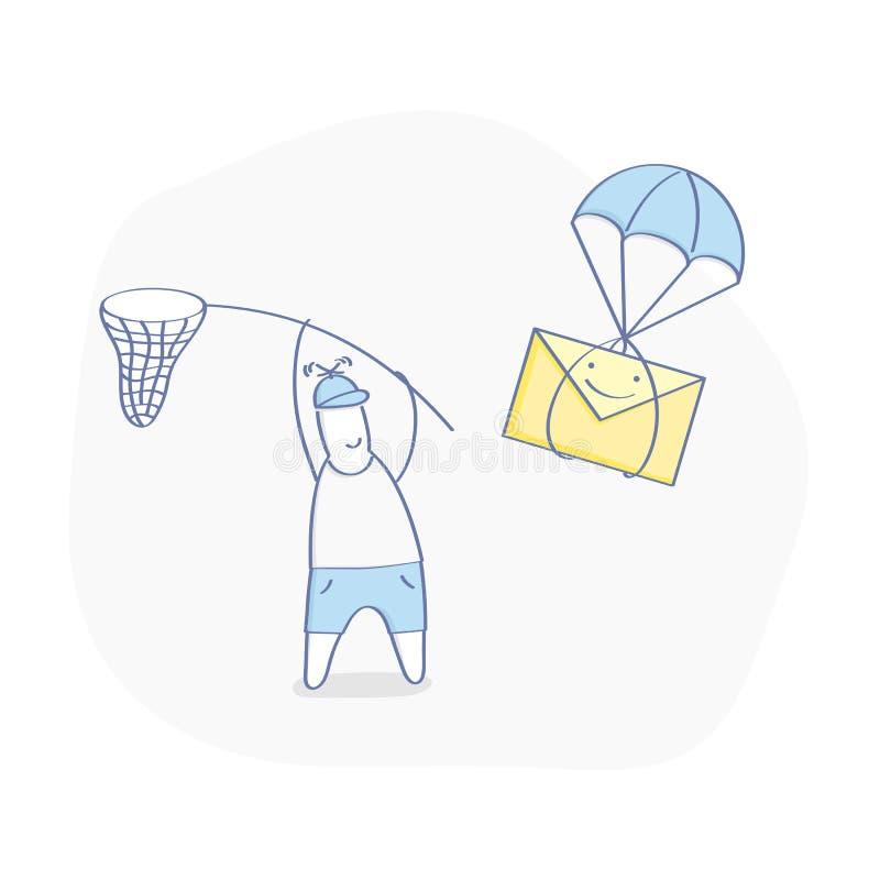 Ricezione del messaggio, pacchetto, email ricevuto fotografia stock libera da diritti