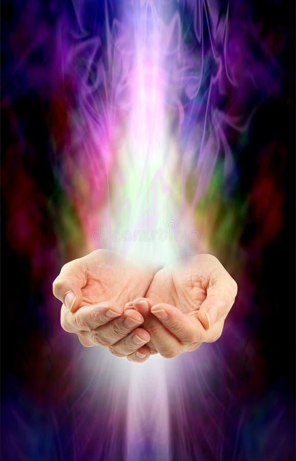 Ricezione dell'energia curativa divina fotografia stock libera da diritti